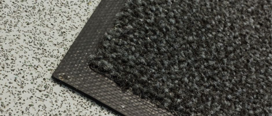 black floor mat